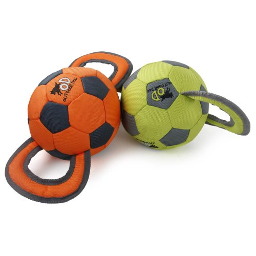 Outdoor Dog - Hundespielzeug Soccer Ball - Orange