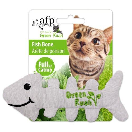 Green Rush - Fish Bones - Katzenspielzeug Fischgräten mit Katzenminze