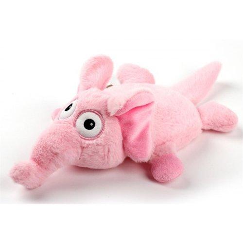 Ultrasonic Delirious Elephant dog toy with extra quiet squeaker
