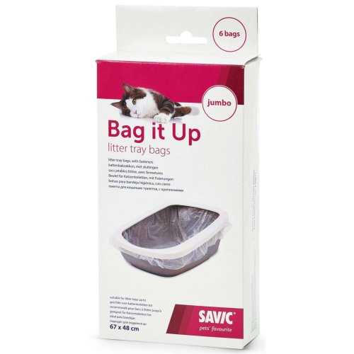 BAG IT UP Pouch for large cat litter pack of 6