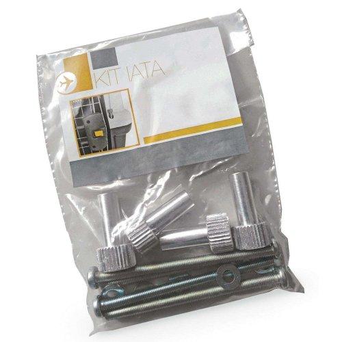 Flug Sicherheits-Set Schrauben - passend für Transportbox SKUDO 4 - 5 - 6 IATA