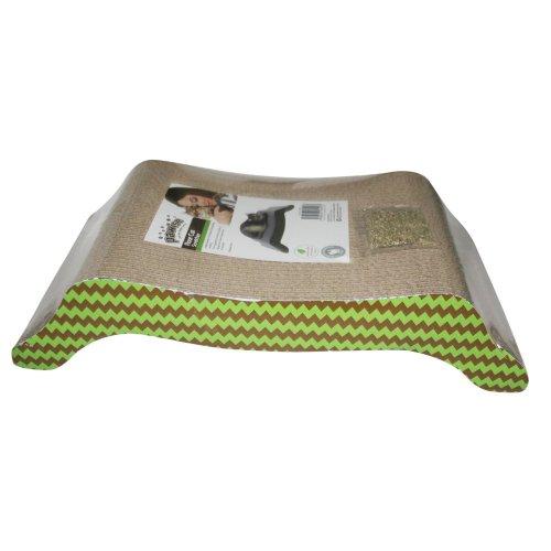 Scratching cardboard furniture with catnip Arched Cat Scratcher 42 x 24 x 10 cm