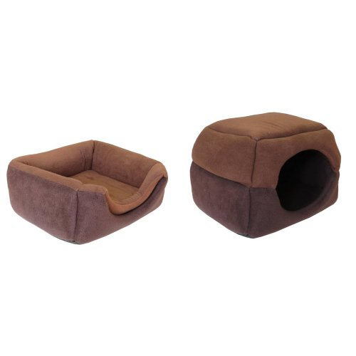 2 in 1 Cat Bed and Cats Cuddle Hut Pop Tent Cat Bed 41 x 39 x 17 cm