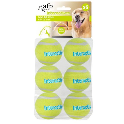 Replacement Balls for FetchN Treat Interactives Toy - Fetch Balls - Set of 6