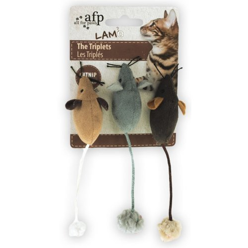 Cat Toy Mice Lam - The Triplets - Pack of 3