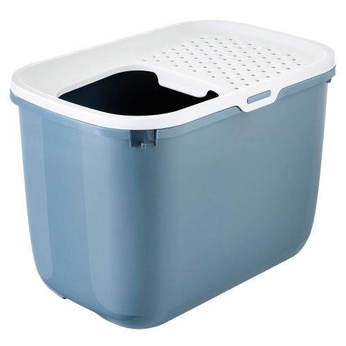 Katzentoilette HOP IN mit Einstieg von oben bluestone-weiss