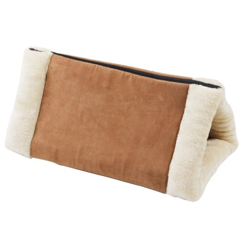 2 in 1 cat roof and cat tunnel nice cuddly - brown-white