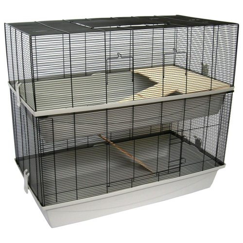 Mouse and hamster cage CARLOS with 2 floors and 7 mm wiring