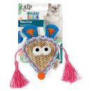 Braided Cat Toy Whisker Fiesta Mouse Face with Catnip