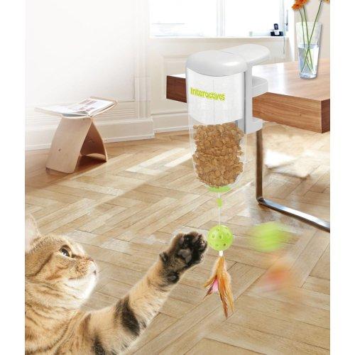 Interaktives Katzenspielzeug Treat Dispenser Futterspender inkl. Halterung z.B. für Tischkante
