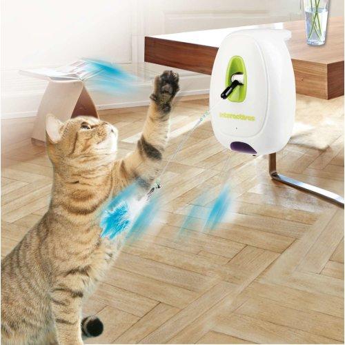 Elektrisches interaktives Katzenspielzeug Jumping Wand Federwedel mit Bewegungssensor