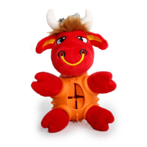Dog toy Chew toy Intelligence toy bull with treat donor