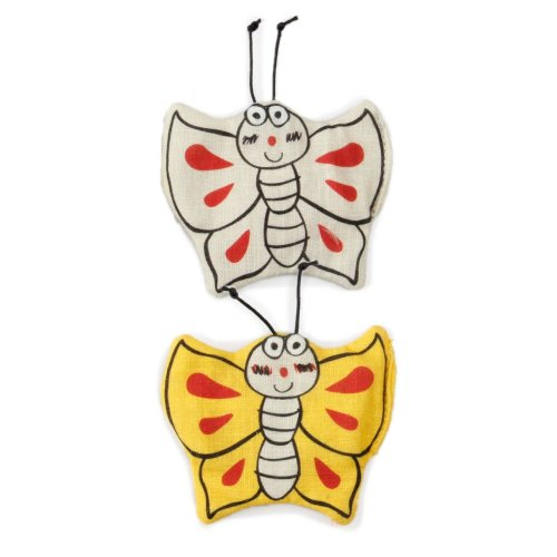 Cat stuffed toy Catoon butterflies with Matatabi (Silver Vine) and Catnip