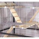 Nagervoliere Nagerkäfig MIAMI mit kompletter Holzausstattung 6 Etagen 7 Leitern