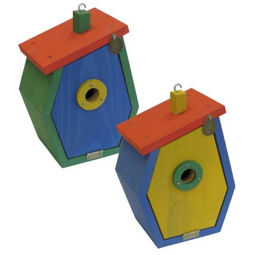 Nesting box birdhouse tit box nesting cave nesting aid STARTUP made of larch wood
