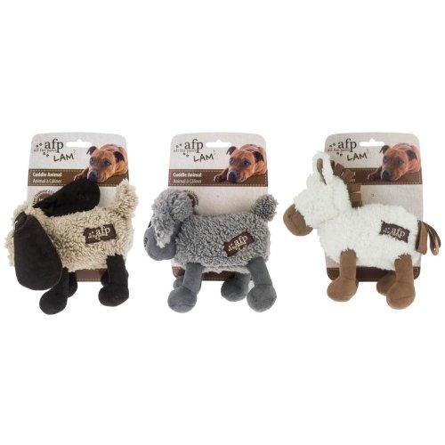 Cuddle Animals mit Lammfell - Hundespielzeug - 3 Farben sortiert