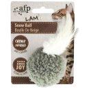 Lam - Snow Ball - Katzenspielzeug Lammfellball - 3 Farben...