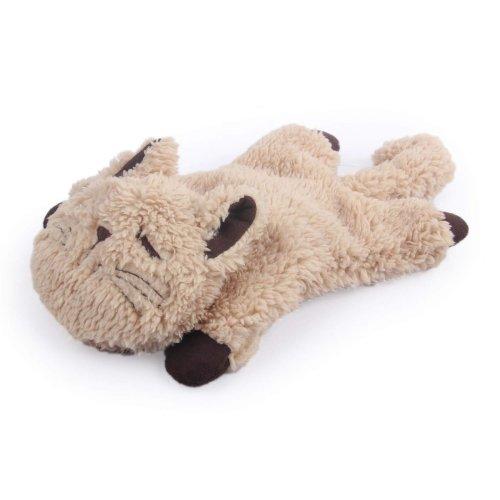 Katzenspielzeug Snoring Cuddler mit Schnarchgeräuschen und Knisterfolie hellbraun