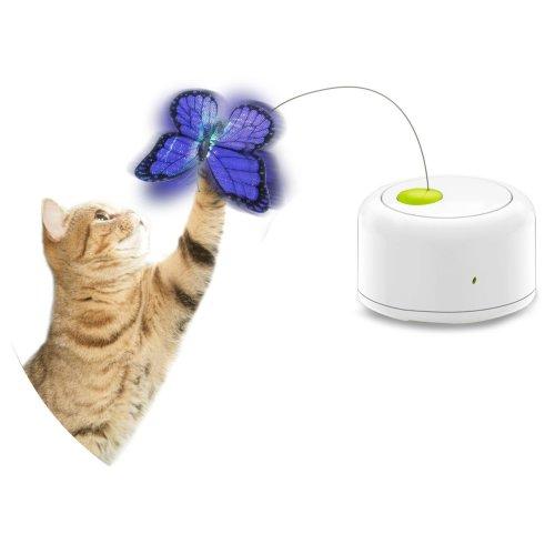 Interaktives Katzenspielzeug flatternder Schmetterling mit Bewegungssensor