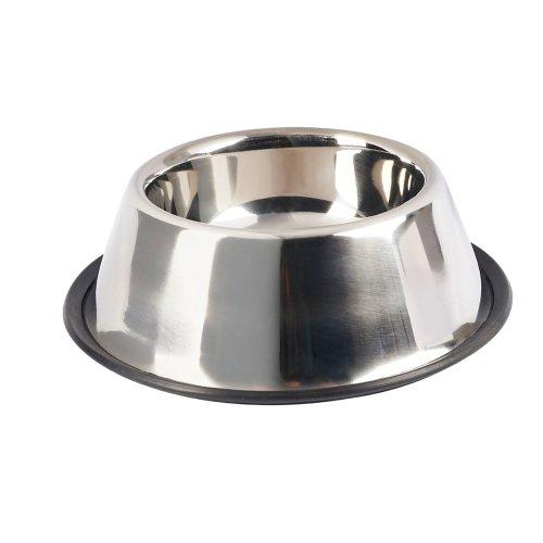 Futternapf Wassernapf Trinknapf Fressnapf für Hunde Edelstahlnapf mit rutschfestem Rand 1000 ml