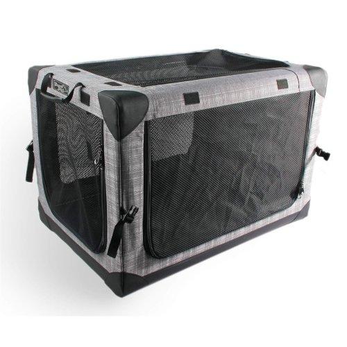 Faltbare Nylonbox Transportbox Hundebox Autobox Hundetasche Transporthütte 95 x 65 x 67 cm