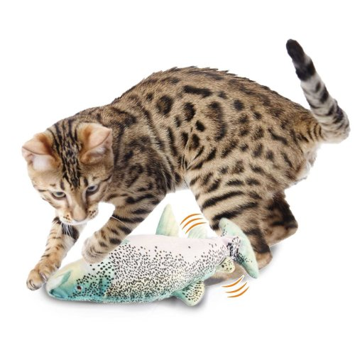 Katzenspielzeug Zappelfisch Forelle oder Sardine mit Catnip und Silvervine ca. 26 cm lang