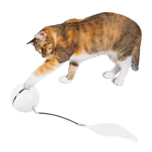 Katzenspielzeug elektischer Ball interaktive drehende Kugel wiederaufladbar