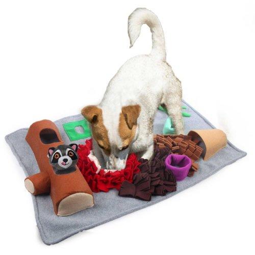 Spielteppich Schnüffelteppich Schnüffelmatte Suchspiel für Hunde eckig 73 x 50 cm