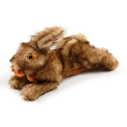 Classic - Brown Rabbit - Brown Rabbit with Squeaker - Dog Toy - Small
