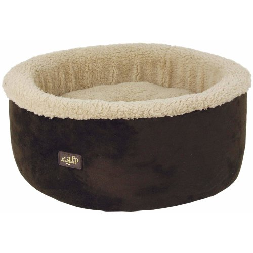 Curl & Cuddle Cat Bed - Cuddle bed for cats and small dogs - brown
